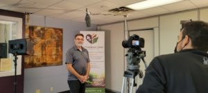Jeff Sorrell doing an interview for the Life Enrichment Center
