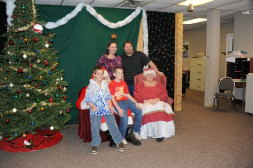 Family pictures with the Mr. and Mrs. Claus
